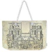1897 Beer Brewering Patent  Weekender Tote Bag
