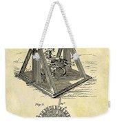 1897 Oil Rig Patent Weekender Tote Bag