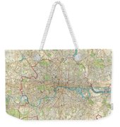 1899 Bartholomew Fire Brigade Map Of London England  Weekender Tote Bag