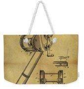 1899 Fishing Reel Patent Weekender Tote Bag