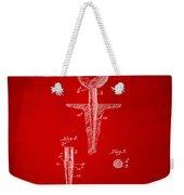 1899 Golf Tee Patent Artwork Red Weekender Tote Bag