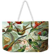 1899 Hummingbird Species Art Forms Of Nature Print Weekender Tote Bag