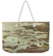 1899 View Map Of Boston Harbor From Boston To Cape Cod And Provincetown  Weekender Tote Bag