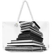 1.8.stack-of-sketch-books Weekender Tote Bag