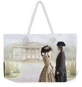 18th Century Georgian  Couple Looking Towards A Country Estate Weekender Tote Bag