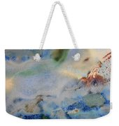 19. Blue Green Brown Abstract Glaze Painting Weekender Tote Bag