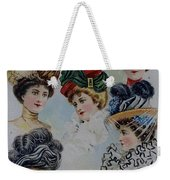 19 Century Ladies Hats The Delineator Early Autumn Hats Weekender Tote Bag