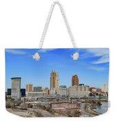 Cleveland Skyline Weekender Tote Bag
