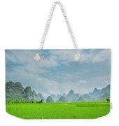 The Beautiful Karst Rural Scenery Weekender Tote Bag
