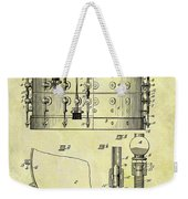 1900 Band Drum Patent Weekender Tote Bag