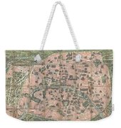 1900 Garnier Pocket Map Or Plan Of Paris France  Eiffel Tower And Other Monuments  Weekender Tote Bag