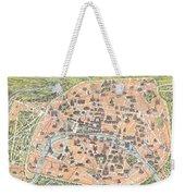 1900 Garnier Pocket Map Or Plan Of Paris France Eiffel Tower  Weekender Tote Bag
