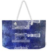 1900 Knife Switch Patent Blue Weekender Tote Bag