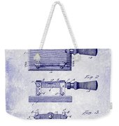 1900 Knife Switch Patent Blueprint Weekender Tote Bag