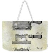 1900 Knife Switch Patent Weekender Tote Bag