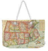 1900 National Publishing Railroad Map Of Connecticut Massachusetts And Rhode Island  Weekender Tote Bag