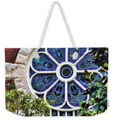 1901 Antique Uab Gothic Stained Glass Window Weekender Tote Bag by Kathy Clark