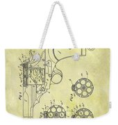 1901 Automatic Revolver Patent Weekender Tote Bag