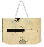 1902 Baseball Bat Patent In Sepia Weekender Tote Bag