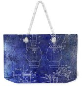 1902 Watchmakers Lathes Patent Blue Weekender Tote Bag