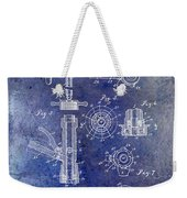 1903 Beer Tap Patent Blue Weekender Tote Bag