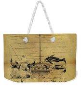 1904 Fishing Decoy Patent Weekender Tote Bag
