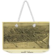 1906 Bird's Eye View Coney Island Weekender Tote Bag