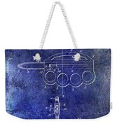 1906 Oyster Shucking Knife Patent Blue Weekender Tote Bag