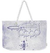1906 Oyster Shucking Knife Patent Blueprint Weekender Tote Bag