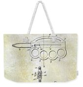 1906 Oyster Shucking Knife Patent Weekender Tote Bag