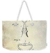 1909 Cork Extractor Patent Weekender Tote Bag