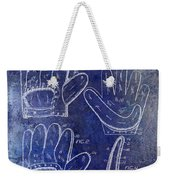 1910 Baseball Glove Patent Blue Weekender Tote Bag
