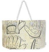 1910 Baseball Glove Patent  Weekender Tote Bag
