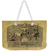 1910 Toy Circus Patent Weekender Tote Bag