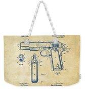 1911 Colt 45 Browning Firearm Patent Artwork Vintage Weekender Tote Bag