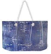 1911 Mechanical Skeleton Patent 1 Blue Weekender Tote Bag