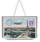 1911 Paris Eiffel Tower Colorized Postcard Weekender Tote Bag