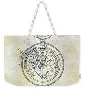 1913 Pocket Watch Patent Weekender Tote Bag