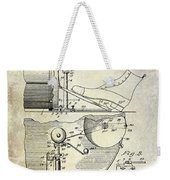 1914 Drum And Cymbal Patent Weekender Tote Bag