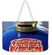 1914 Peugeot L45 Hood Ornaments Weekender Tote Bag