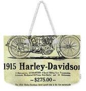 1915 Harley Davidson Advertisement Weekender Tote Bag