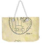 1916 Baseball Glove Patent Weekender Tote Bag