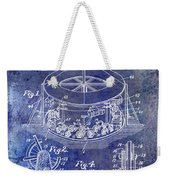 1916 Merry Go Round Patent Blue Weekender Tote Bag