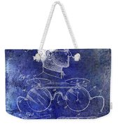 1916 Sunglasses Patent Blue Weekender Tote Bag
