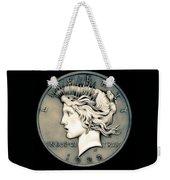 1922 Ghost Peace Dollar Weekender Tote Bag