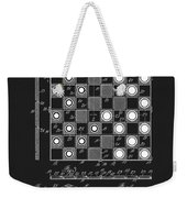 1923 Checkers And Chess Board Weekender Tote Bag