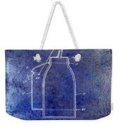1927 Oil Can Patent Blue Weekender Tote Bag