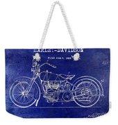 1928 Harley Davidson Patent Drawing Blue Weekender Tote Bag