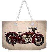 1928 Indian Motorcycle Weekender Tote Bag