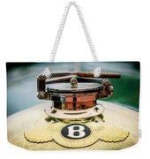 1929 Bentley 4.5-litre Open Tourer Hood Ornament Weekender Tote Bag